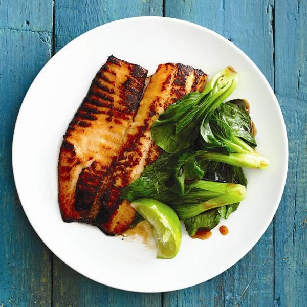 Honey-Glazed Tilapia. This is really yummy and super easy, I just made it tonight for dinner and my husband loved it! I served it with veggies and jasmine rice and it was so good!