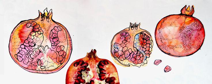 #pomegranate #watercolor #illustration