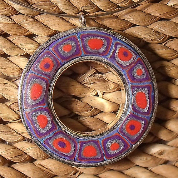 Patchwork Ring Necklace by AnnaMadeThis on Etsy, £15.00