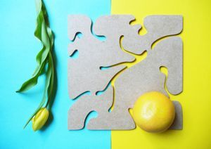 Vegetal Plate Coaster -  protecting delicate surfaces from hot pots