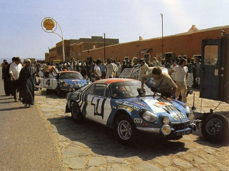 Morocco 1973, yes they actually had a WRC round in Morocco back then, car number 1 and the winning car is that of Bernard Darniche (his name keeps showing up in this thread) Alpine-Renault won the World Championship for makes in 1973, the first time it was ever run.