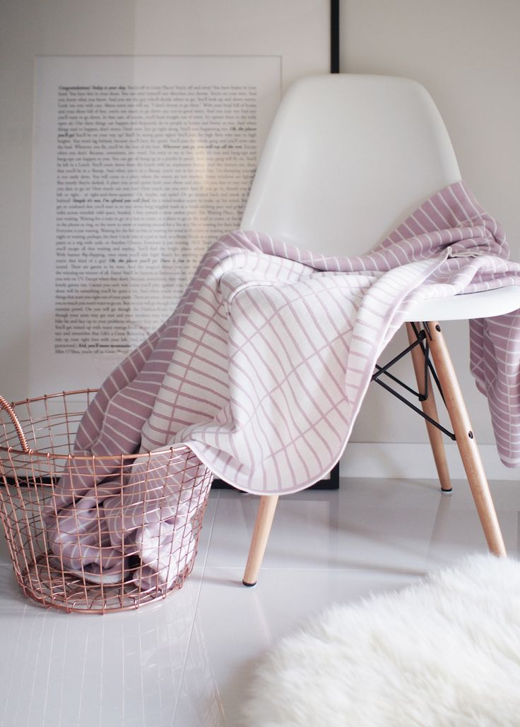 A CUP OF CHIC   ON SALE - Jamie Kay Barcode Blanket, Robert Gordon Copper Basket