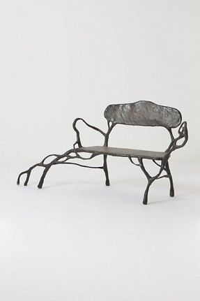 Rooted Bench #anthropologie.  Just beautiful!!!!! I would love this in a hallway painted a deep green or Hermes   orange. Just beautiful!