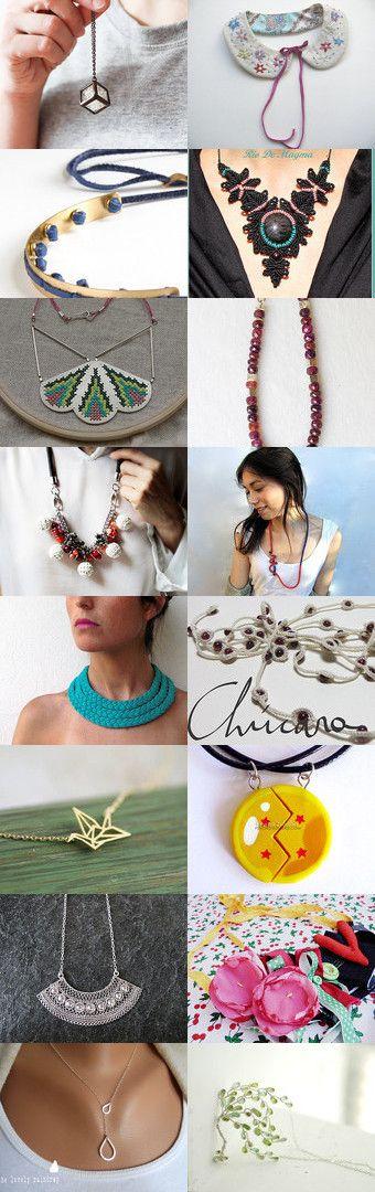 Any necklace by Patricia Stockebrand on Etsy