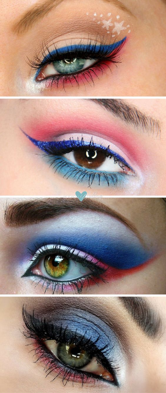 4th Of July Makeup Ideas And Tutorials Absolutely Simple Fabulous 4th Of July Makeup Patriotic Makeup Blue Makeup