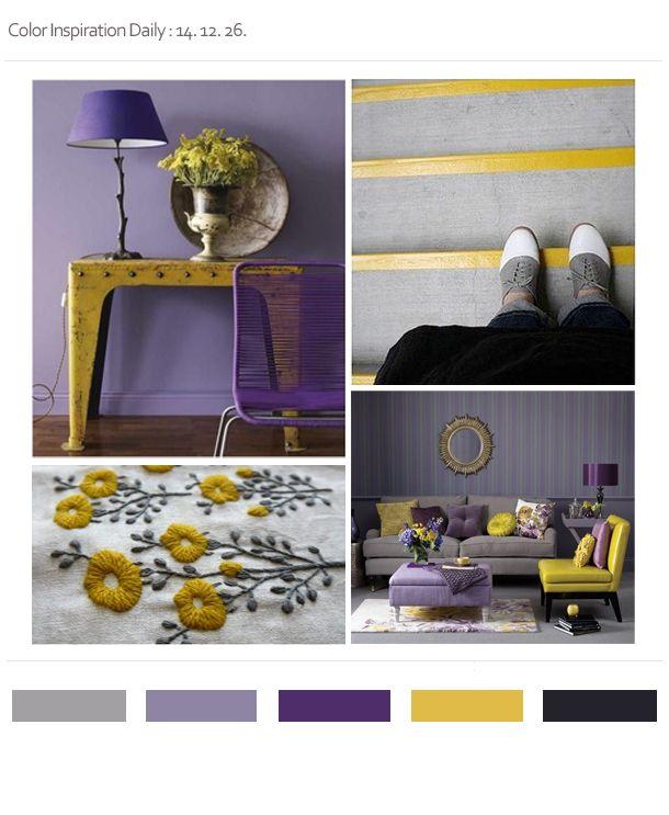 purple & mustard