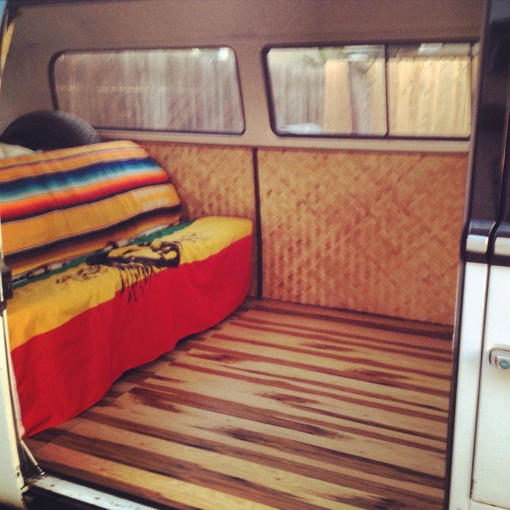 custom bamboo interior  vw bus pinterest interiors  bamboo
