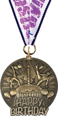 Gymnastics Birthday Medal