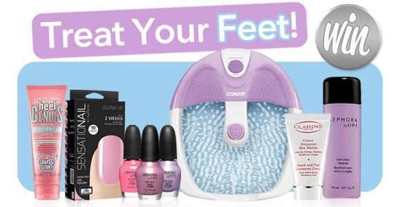 Do you tootsies need some tender loving care?  Re-pin and click here to WIN a Pedicure Prize Pack from WomenFreebies!!! http://womenfreebies.ca/contest/wf-treat-your-feet/?treatyourfeet  *Expires April 19, 2013*