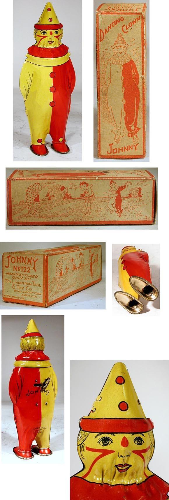 c.1928 Lindstrom, No.122 Johnny Dancing Clown in Original Box