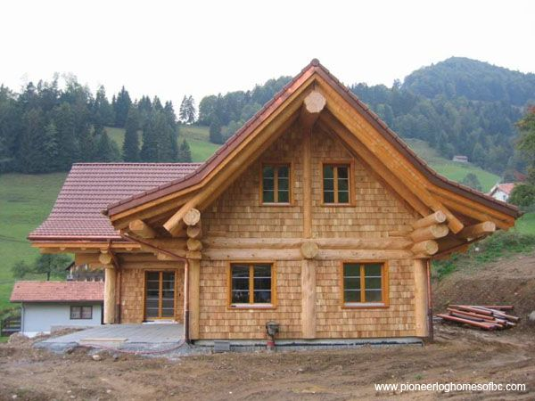 Courtesy of pioneer log homes of b c log post beam for 5 structural types of log homes