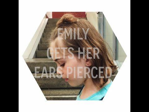 Emily Gets Her Ears Pierced - YouTube