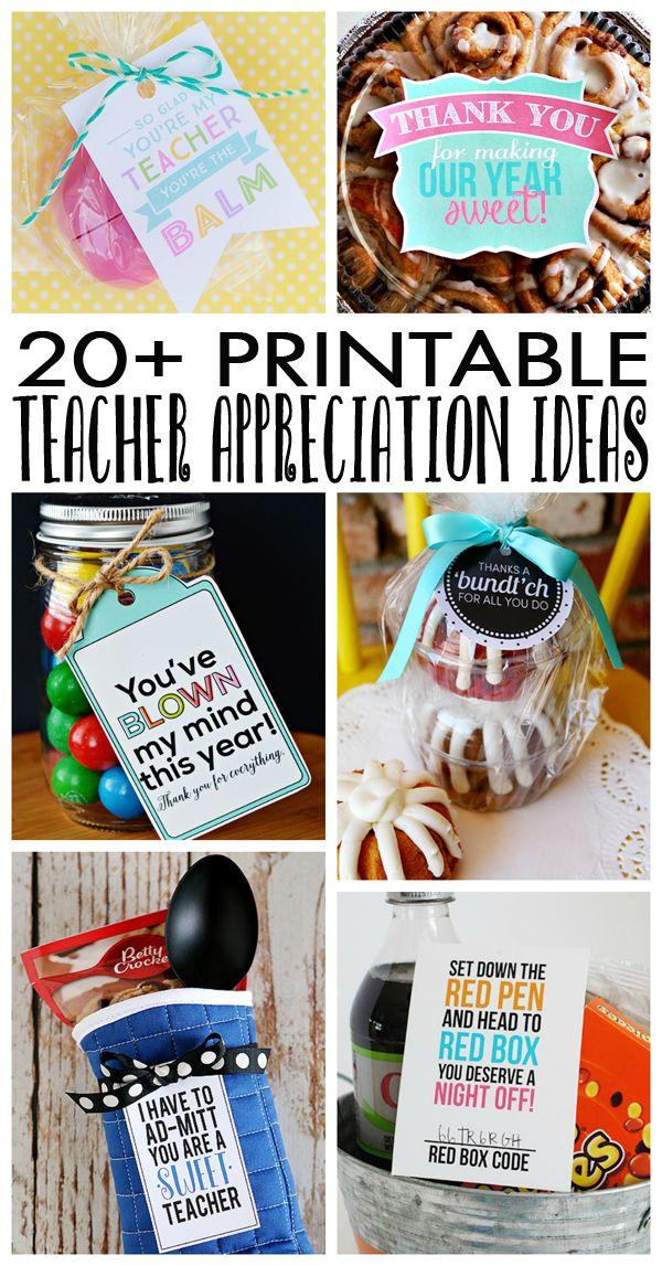 eighteen25: Printable Teacher Appreciation Ideas