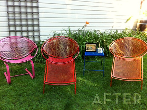 17 Best images about Painted Patio Furniture on Pinterest