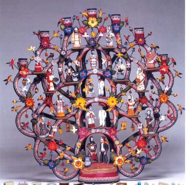 arbol de vida   intricate handmade ceramic tree of life
