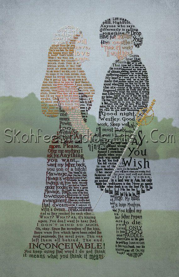 The Princess Bride Art Princess Bride Quotes by SkahfeeStudios