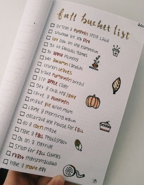18. September und Herbst Bullet Journal Ideas –