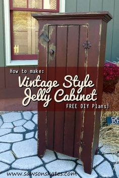 Follow Saws on Skates on Pinterest for more FREE DIY plans, DIY projects and DIY inspiration! How to: Make a Vintage Style Jelly Cabinet - FREE DIY Plans! No matter if you call them jelly cupboards...