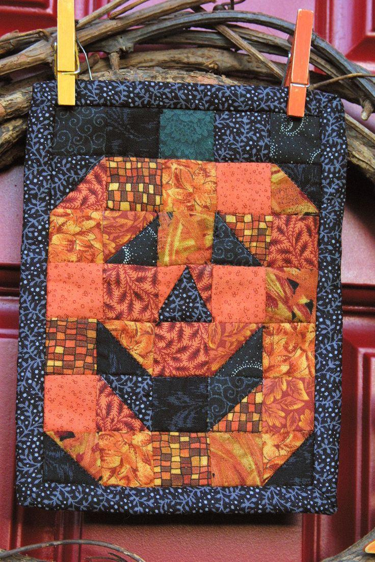 Halloween Mug Rug Quilty Pinterest Rugs Halloween
