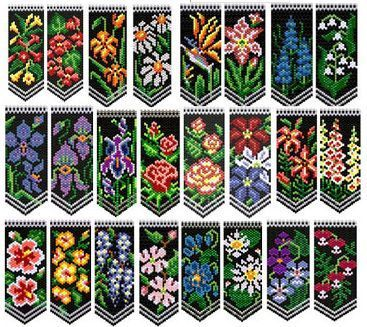 Deb Moffett- Hall's Flower Panel Collection #1 - 23 floral designs; Easy Beads