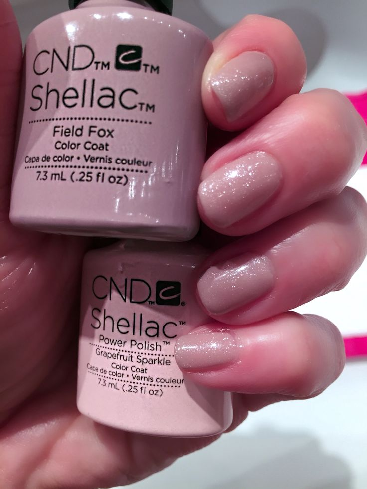 CND Shellac Field Fox with Grapefruit Sparkle