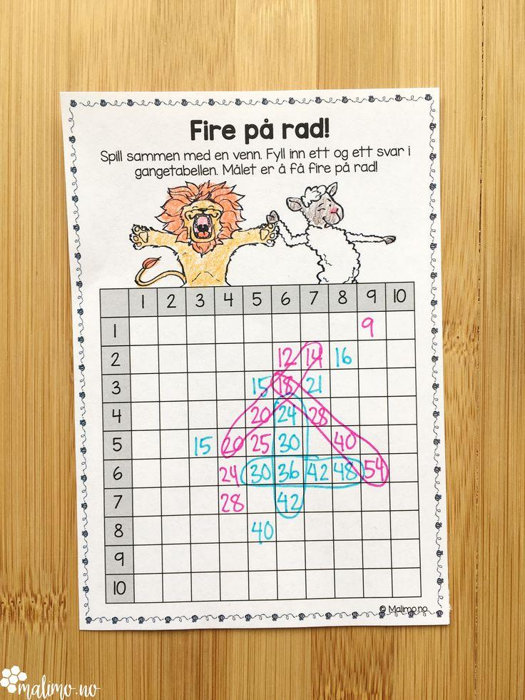 """Multiplikasjonsoppgaver med vår-tema for 3.trinn og oppover. Oppgavene dreier seg om ganging på flere måter (se eksempel på bildene), å koble gangestykke med figur/areal, tegne figurer til gangestykker, fylle inn tall/lage """"number bonds"""" (se forhåndsvisningen), to artige oppgaveark for hver gangetabell, flere ulike """"spinn og gang""""-oppgaver og et ark for å spille fire på rad med gangetabellen!"""