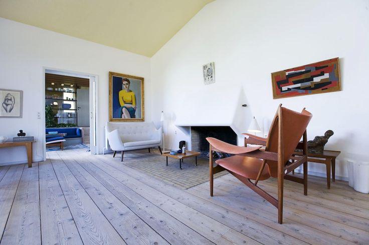 Danish furniture designer and architect Finn Juhl's(1912-1989)house outside Copenhagen.