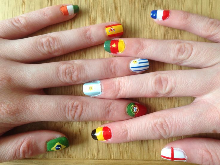 104 best world cup nails nail art design tutorial by nded images world cup nails 2014 prinsesfo Image collections