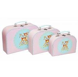 Alimrose Kids Carry Case Set 3pcs - Lil Fawn