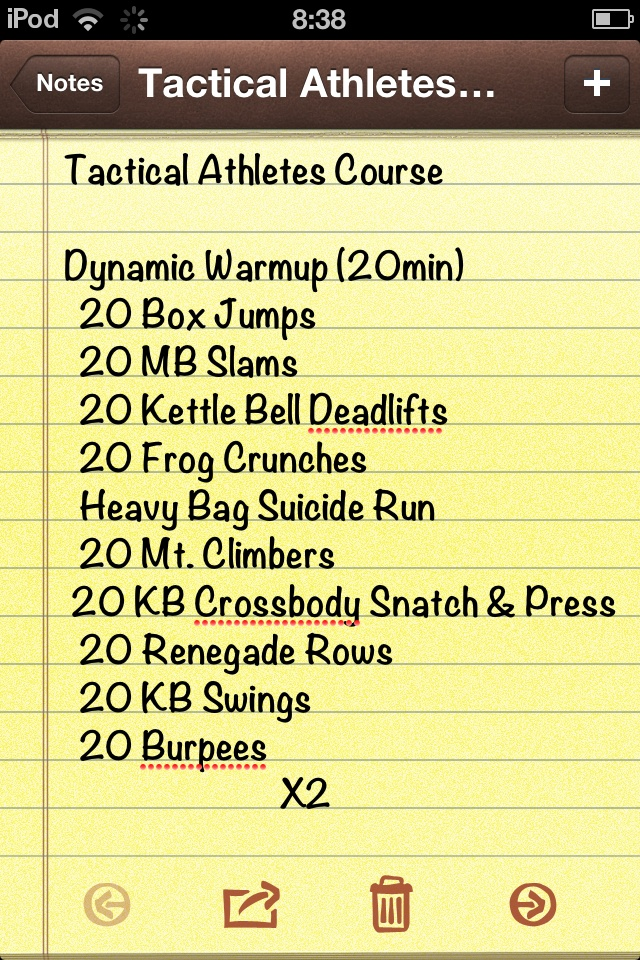 Tactical Athletes Course 30Oct12