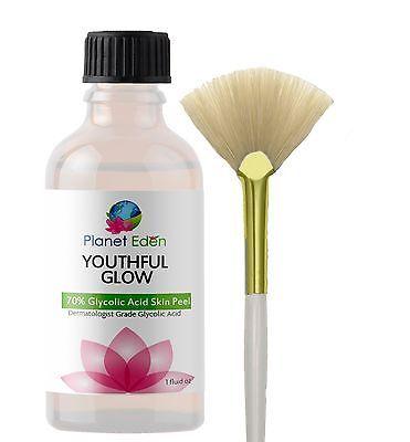 70% Glycolic Acid Chemical Skin Peel DEEP STRENGTH UNBUFFERED - Acne - Wrinkles