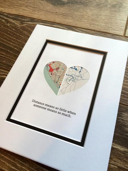 Gift For Long Distance Gift For Girlfriend Or Boyfriend
