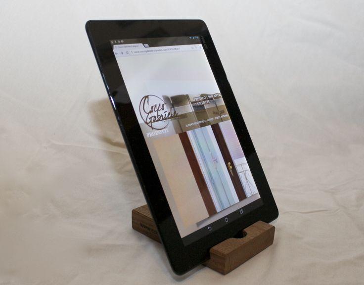 Porta tablet in legno termotrattato (frassino) Bio Antique®