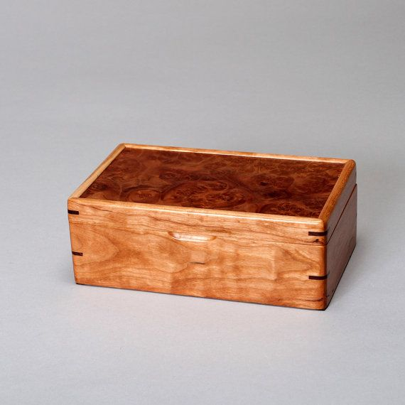 Small Wooden Keepsake Box Treasure Memory Mens Cherry With A Roble Burl Lid The Personal 0314 007 Bo Pinterest