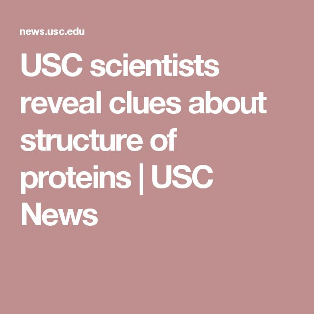 USC scientists reveal clues about structure of proteins | USC News