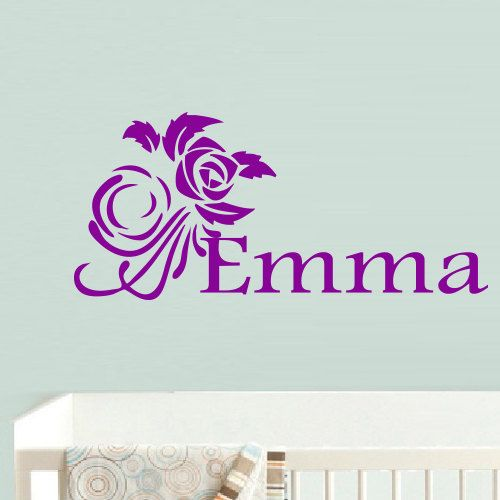 Wall Decal Decor Decals Art Emma Name By Decorwalldecals