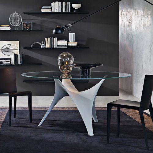 Mesa de comedor / ovalada / redonda / de interior ARC by Foster+Partners Molteni…
