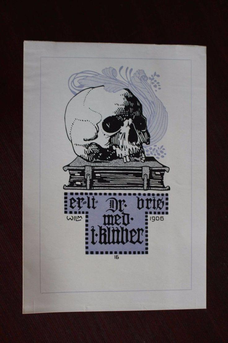 ✒ ex libris Dr. j klüber, doctor psychatrique Erlangen Germany by wilm | eBay