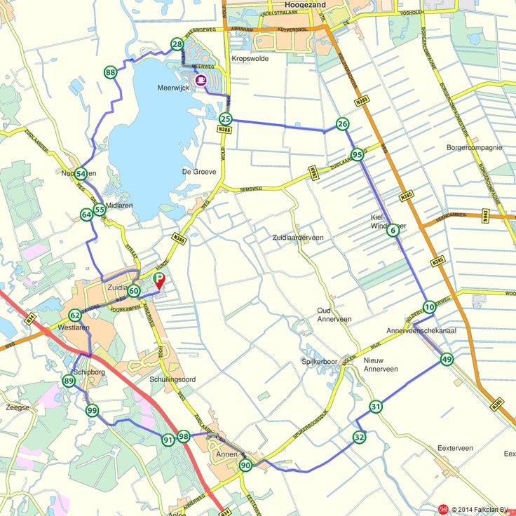 Fietsroute: Hunebedden en grafheuvels nabij Zuidlaren  (http://www.route.nl/fietsroutes/115642/Hunebedden-en-grafheuvels-nabij-Zuidlaren/)