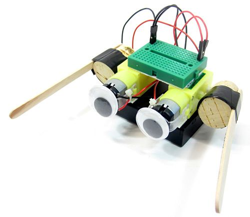 Simple step-by-step directions to create an easy-to-build dancing robot.