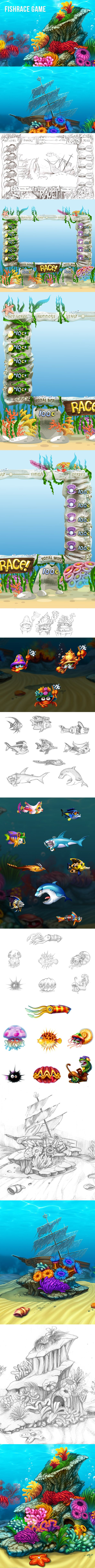 Fish race on Behance