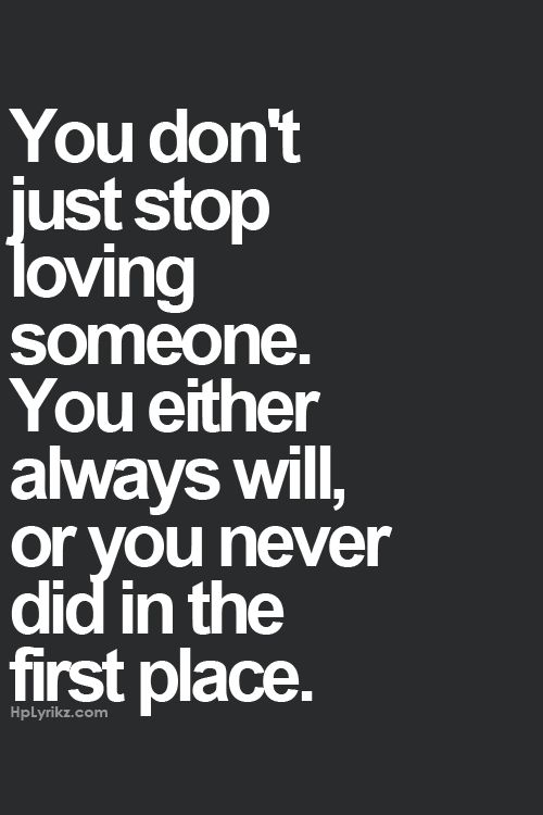 I'll always love you.