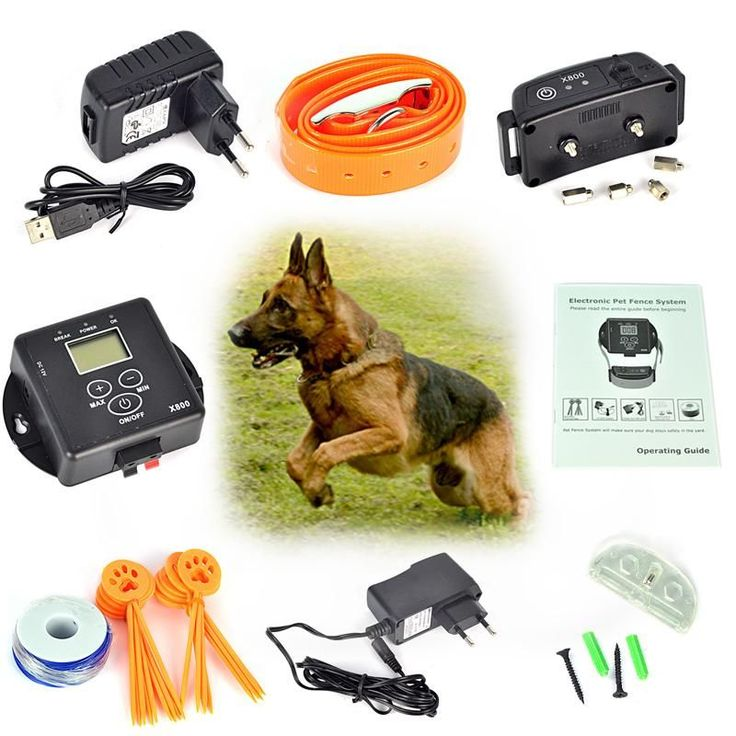 In-Ground Rechargeable dog Collar Electronic Wireless Remote Dog Pet Fence Containment System dog trainning Electric Shock