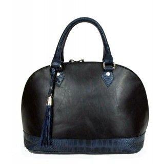 Harieta - geanta din piele naturala - bleumarin