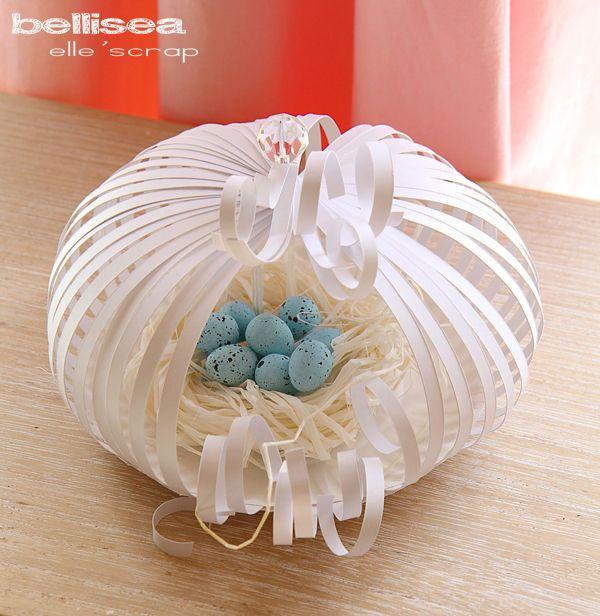 Comment offrir de manière originale des oeufs de Pâques ? #Easter #eggs #paper nest