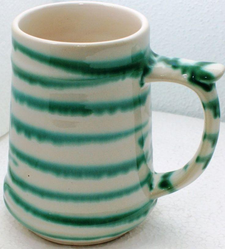 Gmundner Keramik Krügerl, grüngeflammt, gebraucht