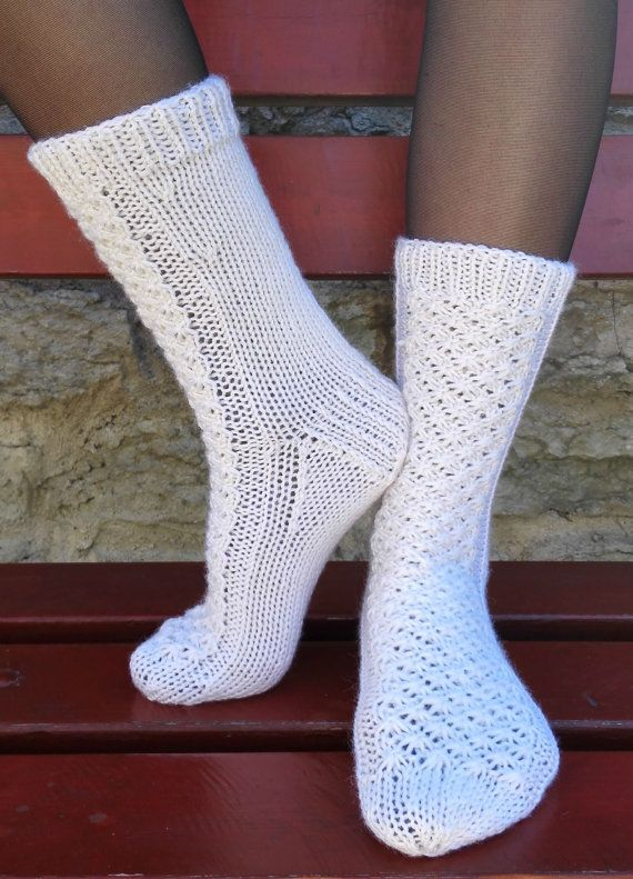 Knitting Pattern Wool Socks : 17 Best images about Sock knitting on Pinterest Free pattern, Cable and Lac...