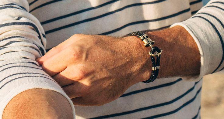 PAUL HEWITT Leder PHREP Silber Anker Armband Schwarz - PAUL HEWITT - Shop