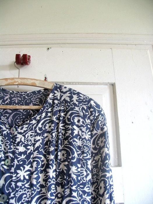 vintade dress 80sdressfloral by artwardrobe on Etsy, $22.00