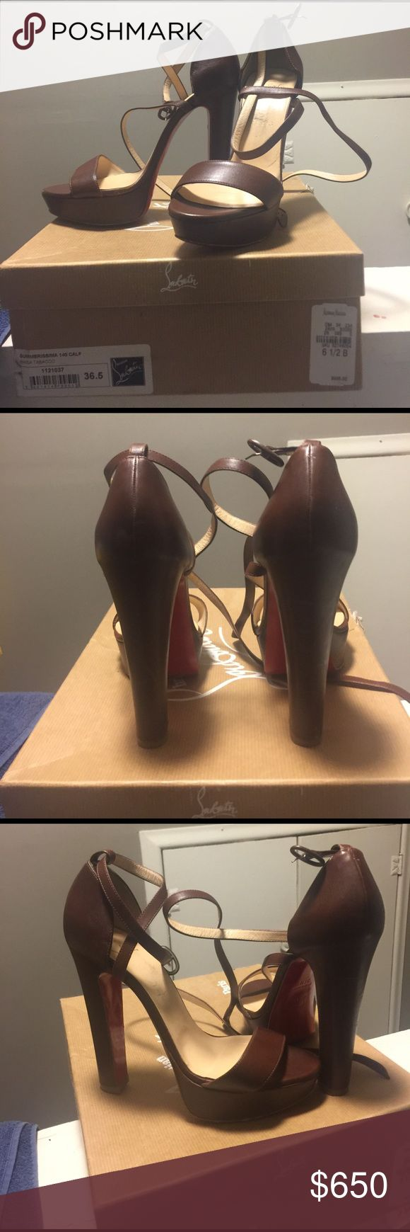 Women's Christian Louboutin strap up heels Women Louboutin strap up Summerissima 140 calf heels comes with box, dust bag, and extra heel taps Christian Louboutin Shoes Heels